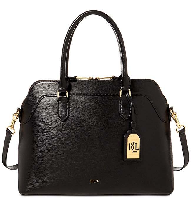 8763a80a7eb Ralph Lauren kožená kabelka Nora medium black