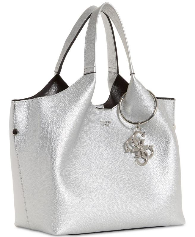 00f66f0689 GUESS kabelka a pouzdro Flora shopper silver