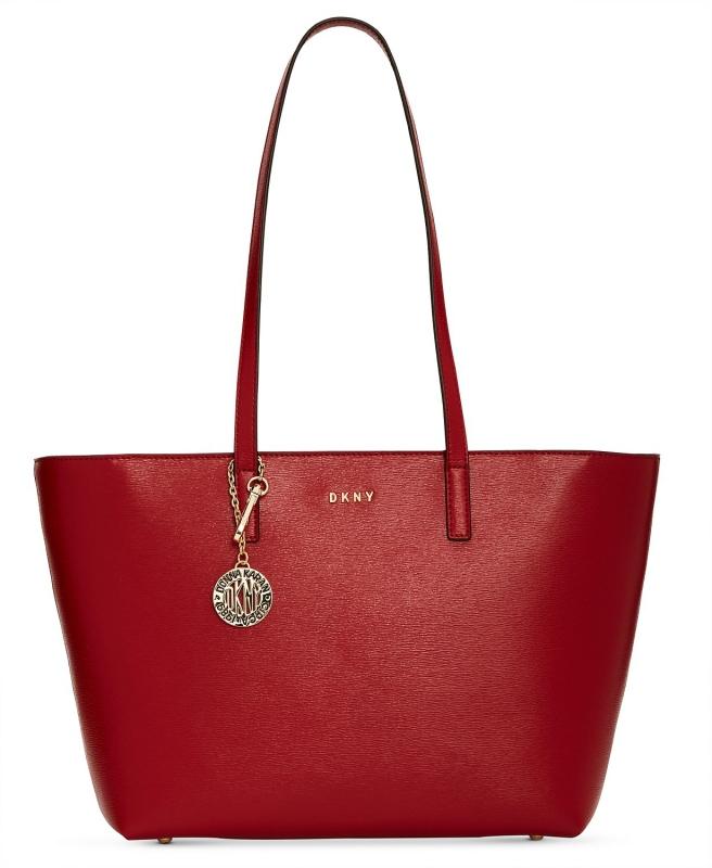 DKNY kožená kabelka přes rameno large Bryant safari red  a1c425e3c8