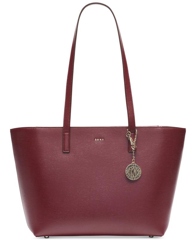 DKNY kožená kabelka přes rameno large Bryant blood red  c37e9731f6