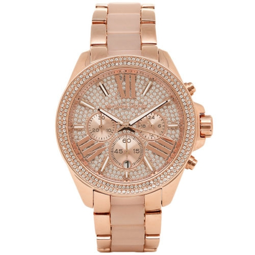 Luxusní hodinky Michael Kors Parker rose gold blush - Livien.sk 1d17870fa84