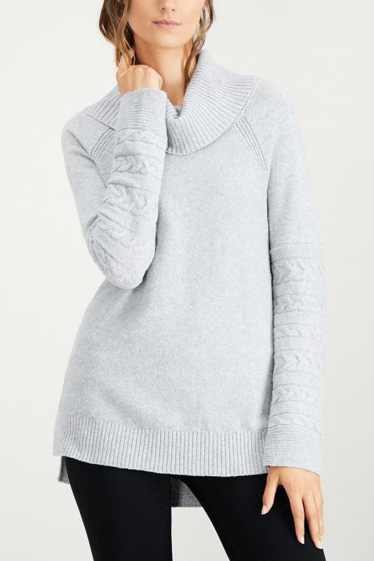 3143e9f809a Calvin Klein světle šedý svetr s rolákem