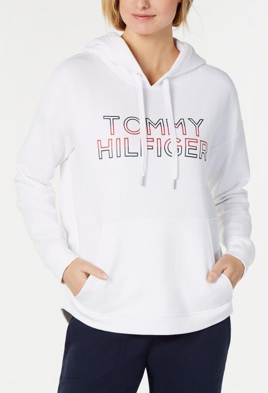cd9d2c1f18 Tommy Hilfiger dámská bílá mikina s kapucí