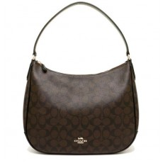Coach kabelka hobo signature brown black F29209