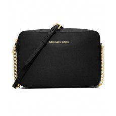 Michael Kors jet set large crossbody saffiano leather černá