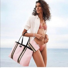 Victoria´s Secret Glass striped tote and pouch