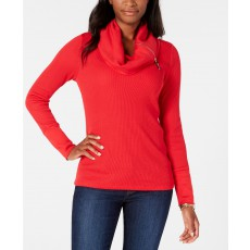 Tommy Hilfiger cowl thermal top scarlet