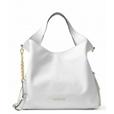 Michael Kors Devon large leather tote optic white