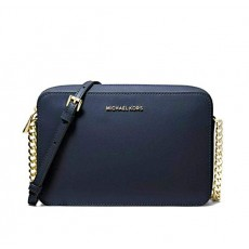 Michael Kors jet set large crossbody leather navy/gold