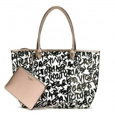 Victoria´s Secret clear graffiti logo tote + pouch