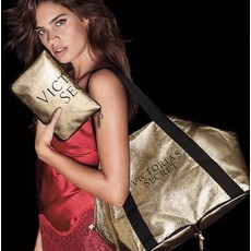 Victoria Secret Foldable duffle taška gold
