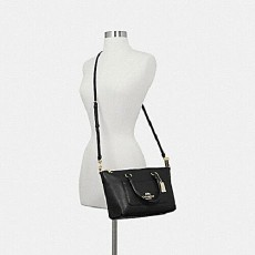 Coach Emma mini pebble leather crossbody F31466 black