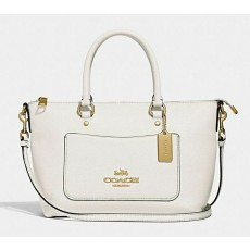 Coach Emma mini pebble leather crossbody F31466 chalk