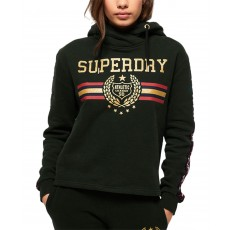 Superdry mikina logo print gia graphic green