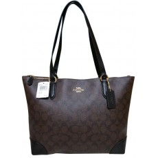 Coach kabelka signature drawstring brown