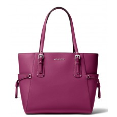 Michael Kors Voyager kabelka crossgrain leather garnet