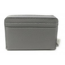 Michael Kors peněženka pebbled leather pearl grey silver