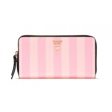 Victoria Secret peněženka Love Victoria zip wallet stripe rose pink