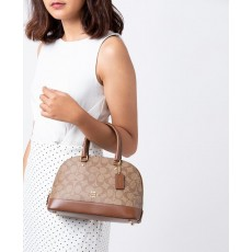 Coach mini Sierra kabelka logo khaki saddle F27583