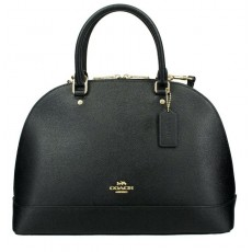 Coach kabelka Sierra large crossgrain leather black F57524