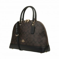 Coach kabelka Sierra large logo brown F27584/F58287