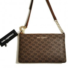 Karl Lagerfeld crossbody kabelka Charlotte monogram brown