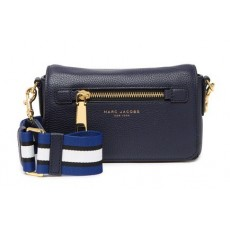 Marc Jacobs kožená modrá crossbody Gotham leather bag
