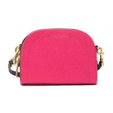 Marc Jacobs kožená crossbody kabelka playback colorblock pink