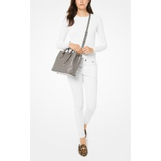 Michael Kors kabelka Camille pebble leather pearl grey