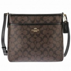 COACH crossbody signature brown F29210
