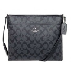 COACH crossbody signature smoke black F29210