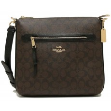 COACH crossbody Mae signature brown F77885