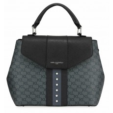 Karl Lagerfeld Paris crossbody kabelka monogram grey-black