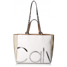 Calvin Klein kabelka Janine smooth tote white combo