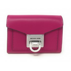 Michael Kors peněženka Manhattan small flap leather fuschia