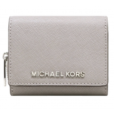 Michael Kors peněženka multifunction small leather šedá