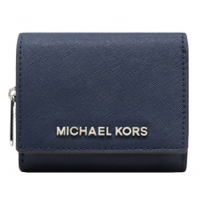 Michael Kors peněženka multifunction small leather navy modrá