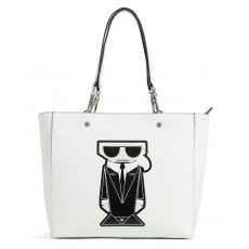 Karl Lagerfeld kabelka Adele Novelty smooth tote white