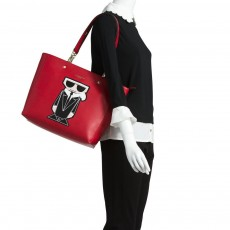 Karl Lagerfeld kabelka Adele Novelty smooth tote red