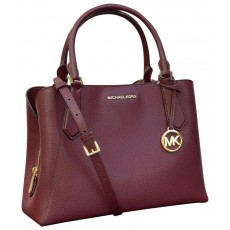 Michael Kors kabelka Kimberly large leather merlot