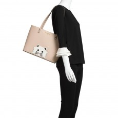 Karl Lagerfeld kabelka Mayebelle saffiano pvc tote shell cat