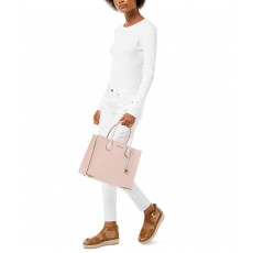 Michael Kors Mercer large saffiano leather kabelka růžová soft pink