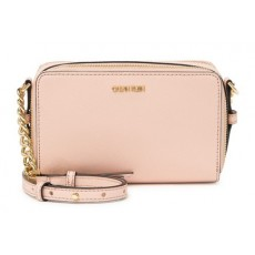 Calvin Klein crossbody double zip růžová