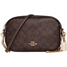COACH Isla crossbody signature brown hnědá F35083