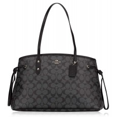 Coach kabelka drawstring large signature smoke black F57842
