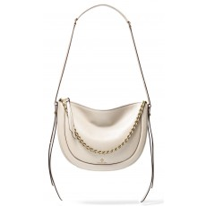 Michael Kors Jagger large pebbled leather messenger light sand