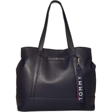 Tommy Hilfiger kabelka Lottie smooth pvc tote navy