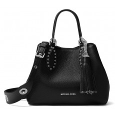 Michael Kors kabelka Brooklyn small leather black silver