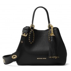 Michael Kors kabelka Brooklyn small leather black gold