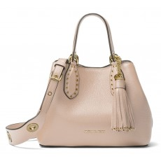 Michael Kors kabelka Brooklyn small leather soft pink růžová